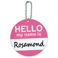 Rosamond Hello My Name Is Round ID Card Luggage Tag