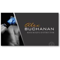 Kick Boxing Business Card from Zazzle.com