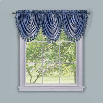 Ben&Jonah Collection Ombre Waterfall Valance - Blue