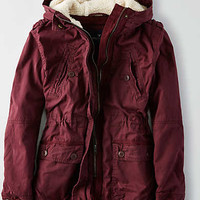 AEO Cotton Parka , Burgundy