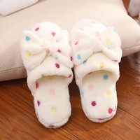 Home Slippers Cotton Fabric Slippers