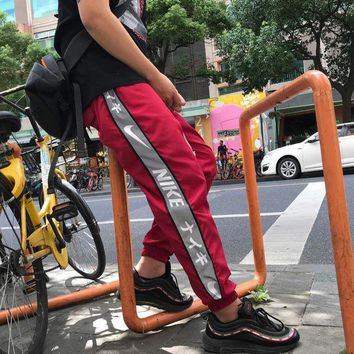 DCCK N378 nike Japanese Special failed 3M pants Red