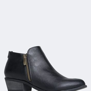 Jed Low Heel Western Booties