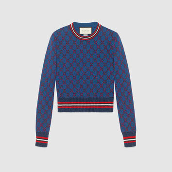 Gucci Lurex GG jacquard sweater