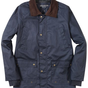 Waxed Cotton Hunting Jacket - Navy