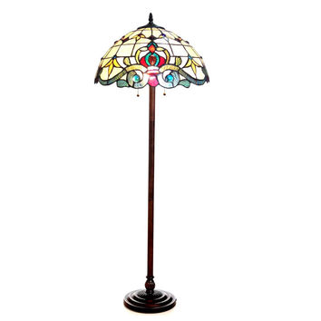 "CHLOE Lighting MARGOT Tiffany-style 2 Light Victorian Floor Lamp 18"" Shade"