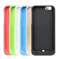 3500mAh Rechargeable External Battery Backup Charger Case iPhone 6 4.7""