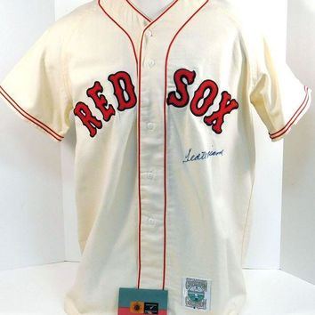 CREYON Ted Williams Signed Autographed Boston Red Sox Baseball Jersey (UDA COA)