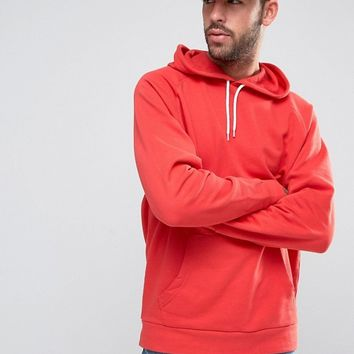 ASOS Oversized Hoodie In Red at asos.com