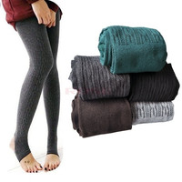 Comfortable Women Cotton Tights Pants Leggings Stirrup Winter Warm  3399 Trousers One size = 1745540548