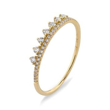 Bony Levy 'Princess Crown' Stackable Diamond Ring (Nordstrom Exclusive)   Nordstrom