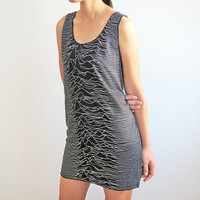 Joy Division Unknown Pleasures Tunic Tank Top Mini Dress Size M