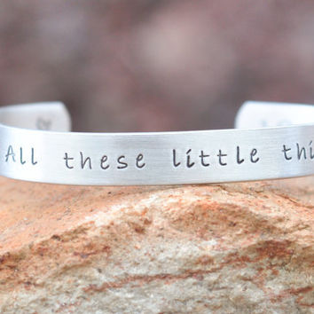 One Direction - All these little things - Hand stamped Bracelet - One Direction