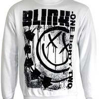 Blink 182 Spelled Out Men's White Sweatshirt - Buy Online at Grindstore.com