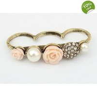 Rose Three Fingers Ring