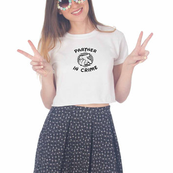 Partners In Crime For Womens Crop Shirt **
