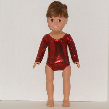 18 inch Doll Clothes Shiny Red Gymnastic/Dance Leotard fits American Girl Doll