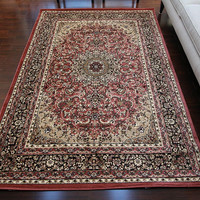 2118 Rose Isfahan Oriental Area Rugs