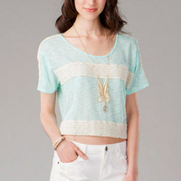 LA PORTE CROCHET CROP TOP