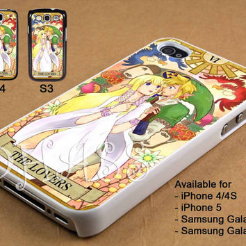 Princess Zelda and Link Hyrule Card Design for iPhone 4/4s/5 Case, Samsung Galaxy S3/S4 Case