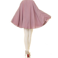 Dusty Pink Kaftan Top Tunic / Poncho Blouse / Batwing Shirt / Long Sleeved Blouse / Plus Size Kaftan Blouse - One Size Fits All (8096)