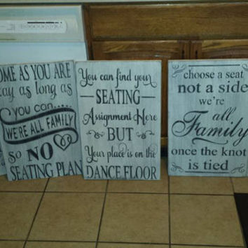 wedding signs for seating