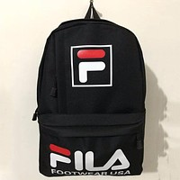 FILA men and women couple backpacks large capacity outdoor leisure travel bag F-ZZZS Pink