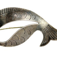 Modernist Fish Brooch N.E. From, Denmark 925S