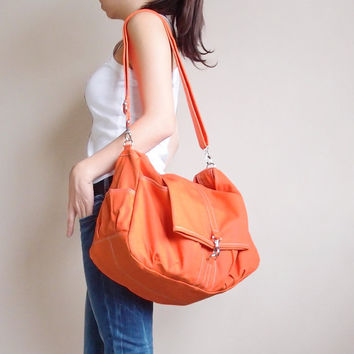 Christmas in July Sale - KINIES CLASSIC in Orange - Single Strap Shoulder bag / Cross Body Messenger