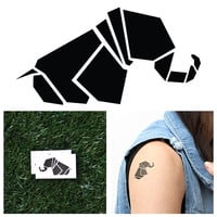 Geometric Elephant - Temporary Tattoo (Set of 2)