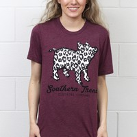 Proud Pig Snow Leopard Short Sleeve {Heathered Plum}