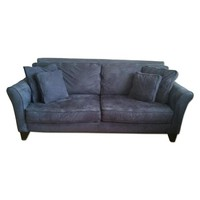 Navy Blue Couch and Chaise Lounge