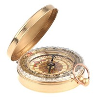 Timetop Classic Pocket Watch Style Bronzing Antique Compass for Camping Hiking Traveling Bronzing Color