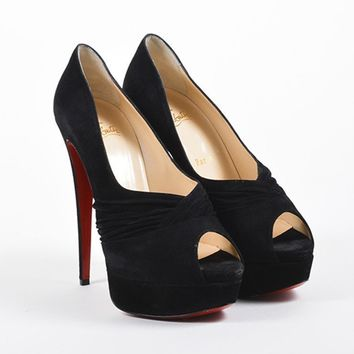 DCCK2 Christian Louboutin Black   Drapadita 150   Pumps
