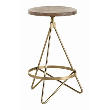 Arteriors Home Wyndham Wood/Iron Swivel Counter Stool - Arteriors Home 6698