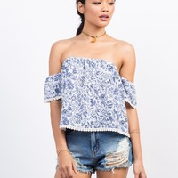 Off-the-Shoulder Vacation Top