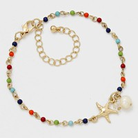 Starfish Charm Beaded Anklets
