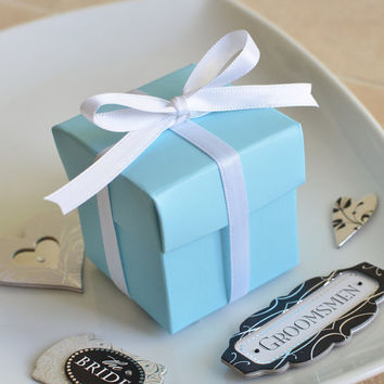 Tiffany Blue Favor BoxSet of 10 by PartyGurlShoppe on Etsy