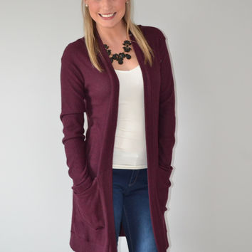 Burgandy Cardigan