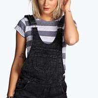 Kara Grey Acid Denim Dungarees