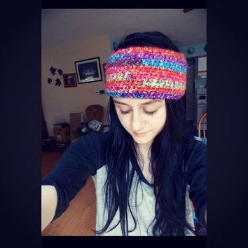 Crochet Dreadband Headband Ear Warmer for Winter Cold Weather // Dreadlock Accessories