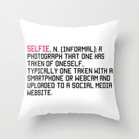 Selfie Throw Pillow by Tchea-ster