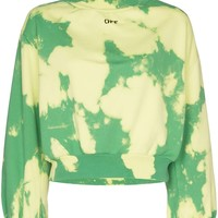 Peak Green Bleach Turtleneck Sweater by OFF-WHITE