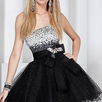 Short Strapless Glitter Tulle Hannah S Dress