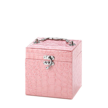 Pink Square Jewelry Case