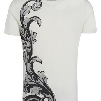 VERSACE COLLECTION T-shirt V800683S VJ00293 cream 100% Cotton