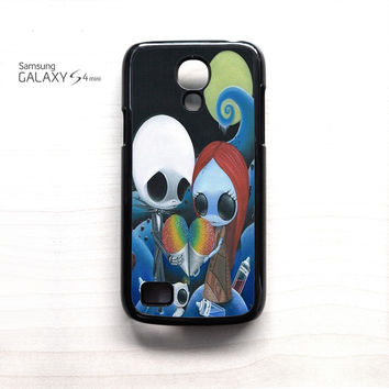 jack and sally nightmare before christmas rainbow ice cream for Samsung Galaxy Mini S3/S4/S5 phone case