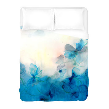 Floral Study Twelve, Floral, Painting, Multicolored Duvet Cover