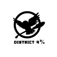 "Wizard's Owl Hedwig District 9 3/4 (Hunger Games Mockingjay Logo) Custom Made Vinyl Decal Sticker - 4.4"" x 4.5"" - 28 Color Options"