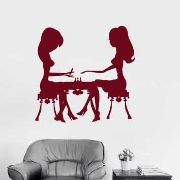 Vinyl Wall Decal Manicure Nails Studio Beauty Salon Fashion Stickers Unique Gift (1663ig)